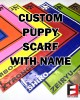 LATEX PUPPY SCARF WITH NAME
