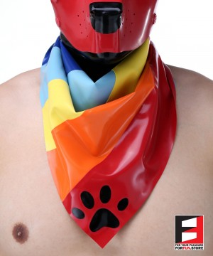 LATEX PUPPY SCARF RAINBOW 2-IN-1