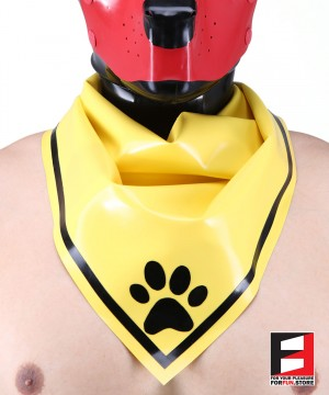 LATEX PUPPY SCARF YELLOW