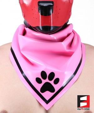 LATEX PUPPY SCARF PINK