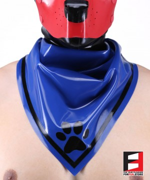 LATEX PUPPY SCARF BLUE