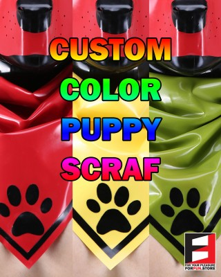 LATEX PUPPY SCARF CUSTOM COLOR