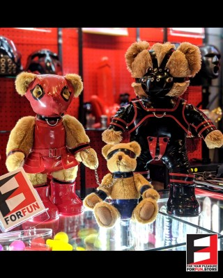 RUBBER FAMILY TEDDY BEAR TEDDY-FAMILY