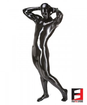 LATEX FUNSUIT WITH LASER PERFORATE MASK MEN BS01-MAA-L01-M