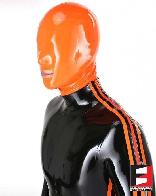 LATEX PLAYSUIT WITH THREE STRIPES & CODPIECE MEN BS01C3-M
