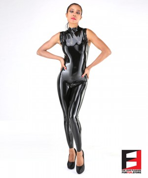 LATEX BODYSUIT SLEEVELESS WOMEN BS03-W