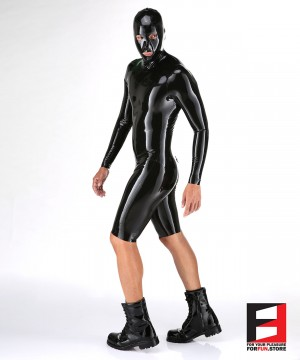LATEX BODYSUIT WITH MASK MEN BS04-MAD-M