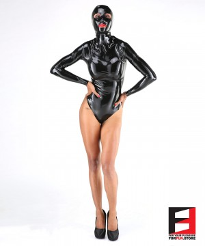 LATEX BODYSUIT WITH MASK WOMEN BS08-MAD-W