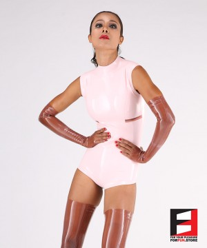 LATEX SLEEVELESS BODYSUIT WOMEN BS10-W