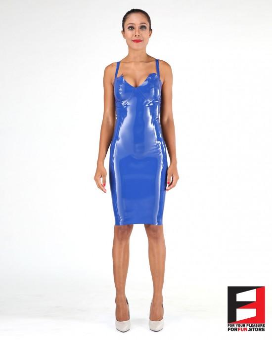 LATEX SHORT DRESS DRC001