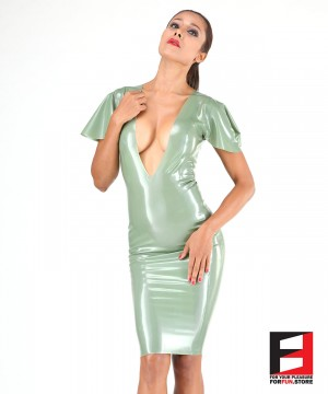 LATEX SHORT DRESS DRC002