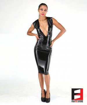LATEX SHORT DRESS DRC003