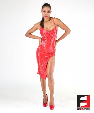 LATEX SHORT DRESS DRC004