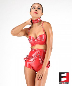 LATEX DRESS SET DRS002