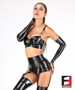 LATEX DRESS SET DRS003
