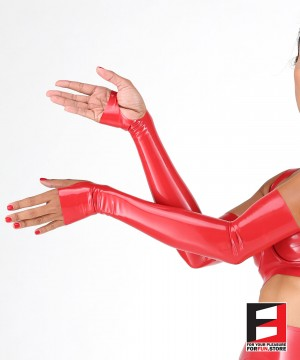 LATEX FINGERLESS LONG GLOVES GLAF