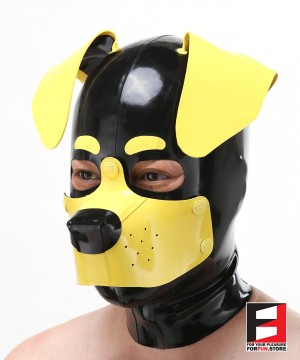 LATEX PUPPY FOLDED EARS MASK MA-D01B
