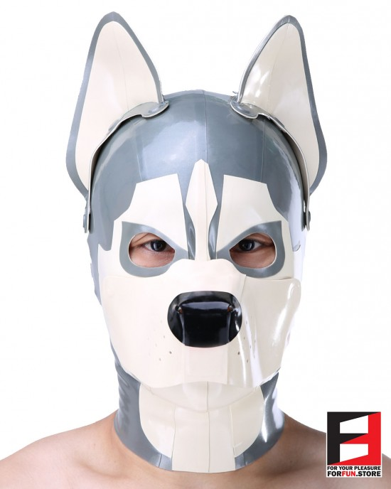LATEX HUSKY MASK WITH MAGNETIC MA-DM03