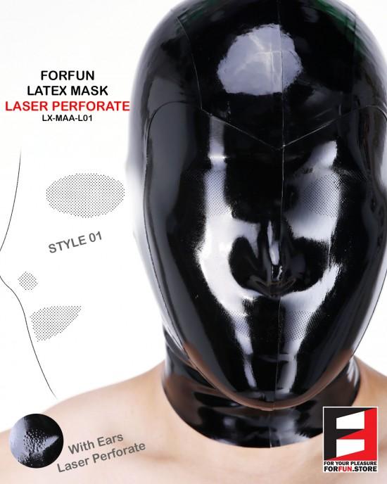 LATEX MASK LASER PERFORATE MAA-L01