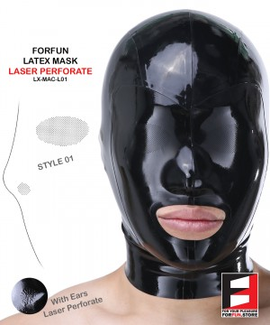 LATEX MASK LASER PERFORATE MAC-L01