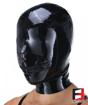 LATEX MASK MOUTH ZIP MAG