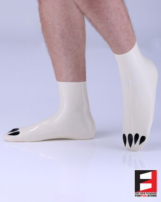 LATEX SOCKS WITH TIGER PAWS SO-PT