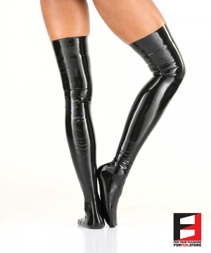 LATEX STOCKINGS WOMEN STA