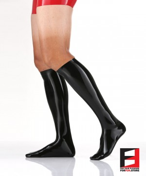 LATEX BELOW KNEE STOCKINGS MEN STB
