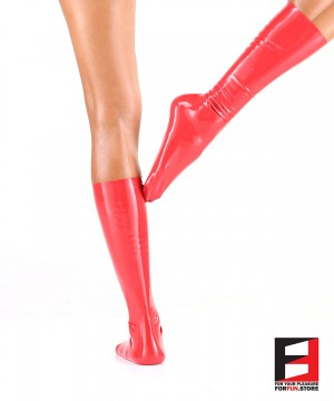 LATEX BELOW KNEE STOCKINGS WOMEN STB