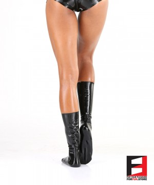 LATEX SHORT STOCKINGS WOMEN STC
