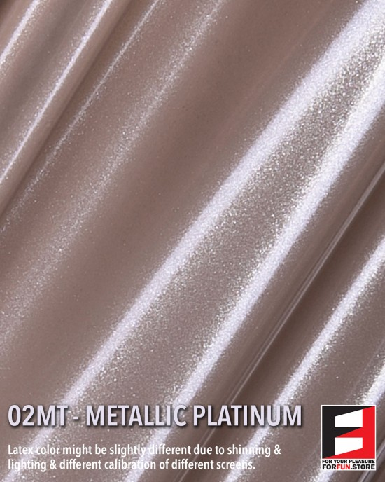 02MT METALLIC PLATINUM LATEX SHEET