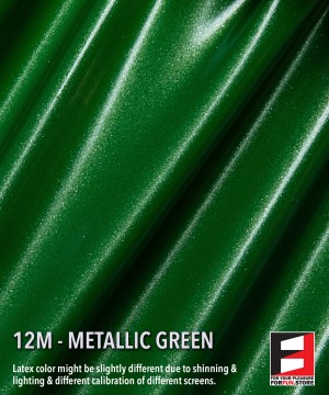12M METALLIC GREEN LATEX SHEET