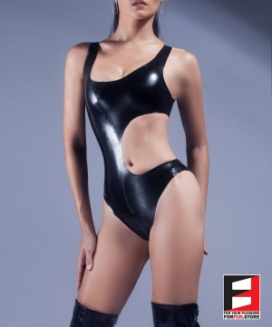 RUBBER BODYSUIT OPEN WAIST WOMEN RR071