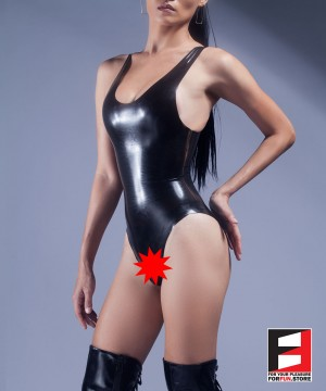 RUBBER BODYSUIT OPEN CROTCH WOMEN RR072