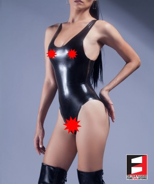 RUBBER BODYSUIT OPEN BREAST&CROTCH WOMEN RR074