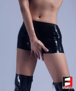 RUBBER HOT PANTS OPEN CROTCH WOMEN RR121