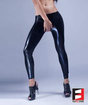 RUBBER LEGGINGS OPEN CROTCH RR161