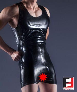 RUBBER BODYSUIT OPEN CROTCH MEN RR171