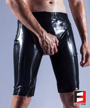 RUBBER SHORTS OPEN CROTCH MEN RR191
