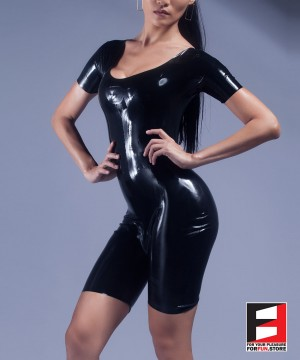 RUBBER BODYSUIT SHORT LEGS WOMEN RR250