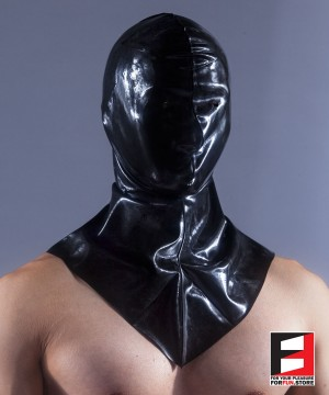 RUBBER MASK OPEN EYES WITH NECK RR270