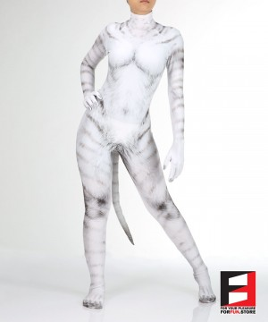 Cat White PETSUIT C004