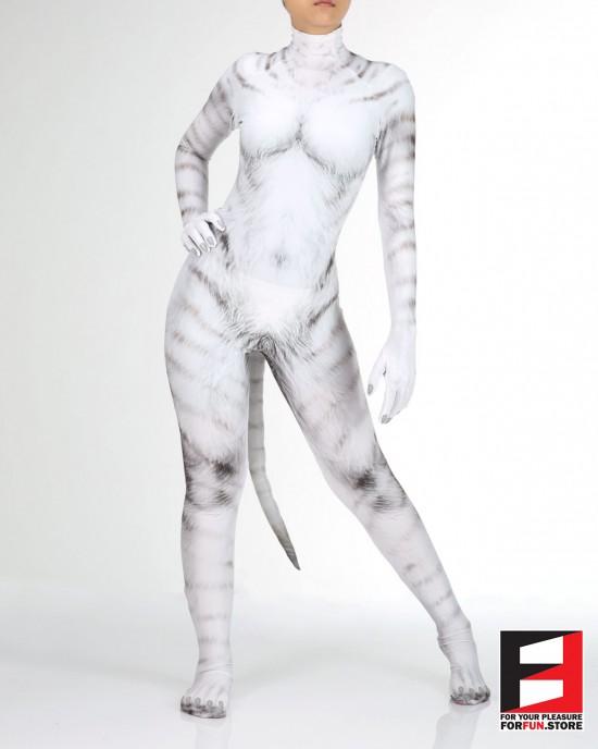 Cat White PETSUIT C004