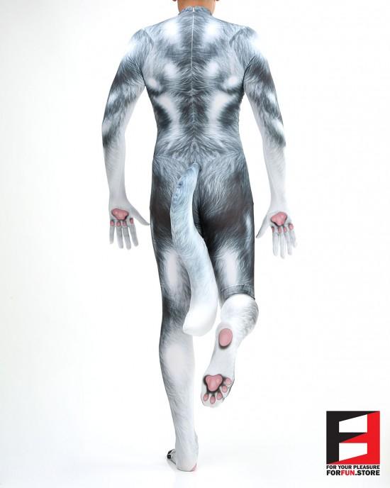 Dog Husky Silver V1 PETSUIT D001