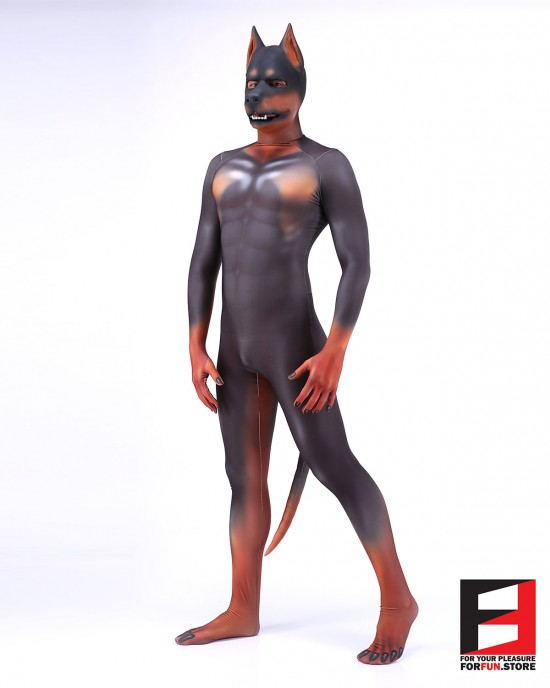 Dog Cartoon Doberman PETSUIT D005
