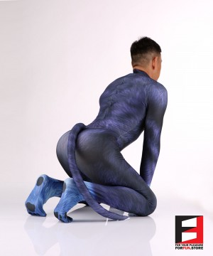 Dog Puppy Blue Men PETSUIT D006M-BLUE