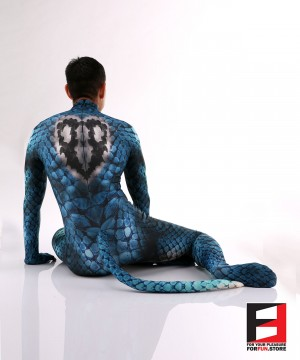 Snake Blue Men PETSUIT S001M-BLUE