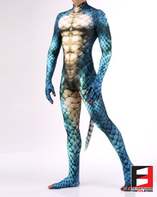 Snake Blue PETSUIT S001M-BLUE