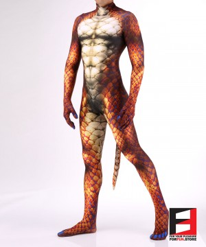 Snake Orange Men PETSUIT S001M-ORANGE
