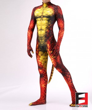 Snake Red Men PETSUIT S001M-RED